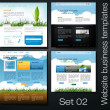 Website business templates set 02 - Foto Stock