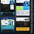 Exclusive website business templates, forth set — Stock Photo