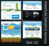Website business templates set 02 — Stock Photo