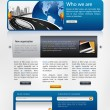 Website design template — Foto Stock