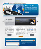 Website design template — Stock Photo