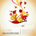 Abstract autumn vector background — Stock Vector