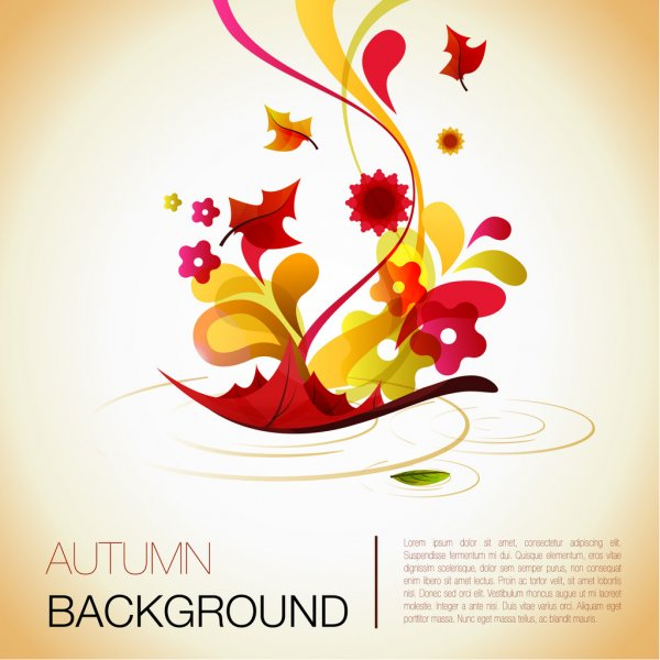 Abstract autumn vector background — Stock Vector