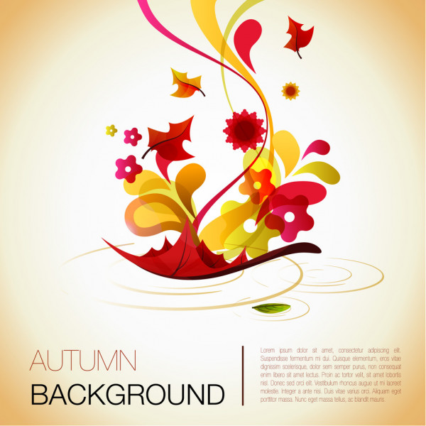 Abstract autumn vector background — ベクター素材ストック