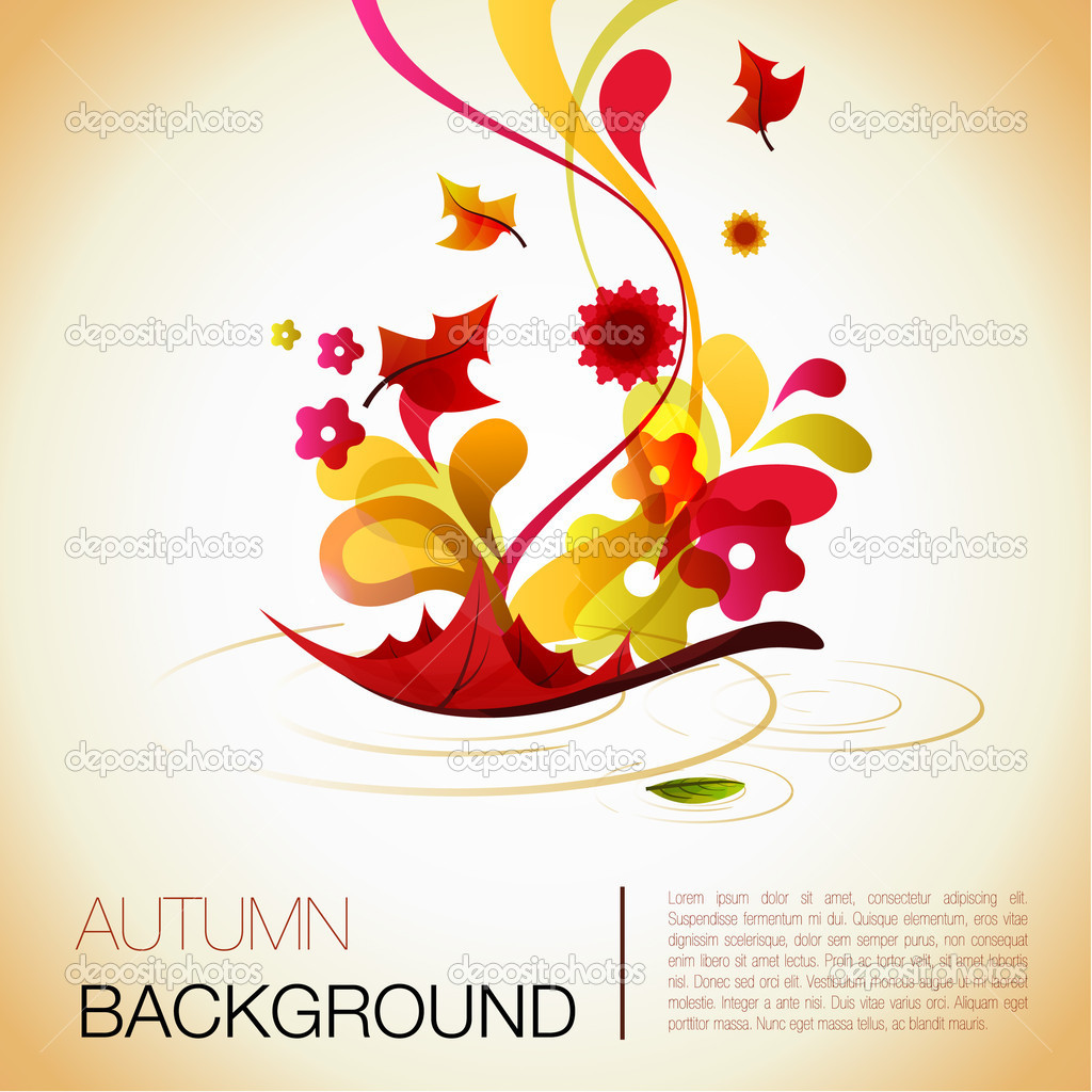 Abstract autumn vector background — ベクター素材ストック #3802184