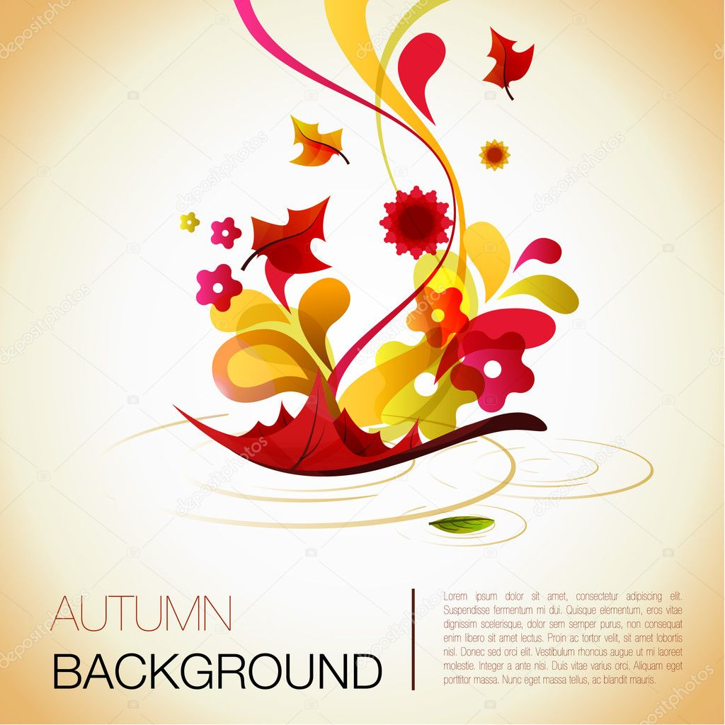 Abstract autumn vector background  Image vectorielle #3802184