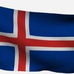 İzlanda 3d bayrağı — Stok fotoğraf