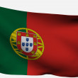 Portugal 3d flag — Stock Photo