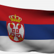Serbian 3d flag — Stock Photo