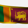 Sri Lanka 3d flag — Stock Photo