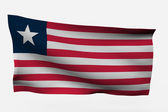 Liberia 3d flag — Stock Photo