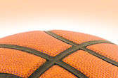 Basketball detail with clipping path — Stock Photo
