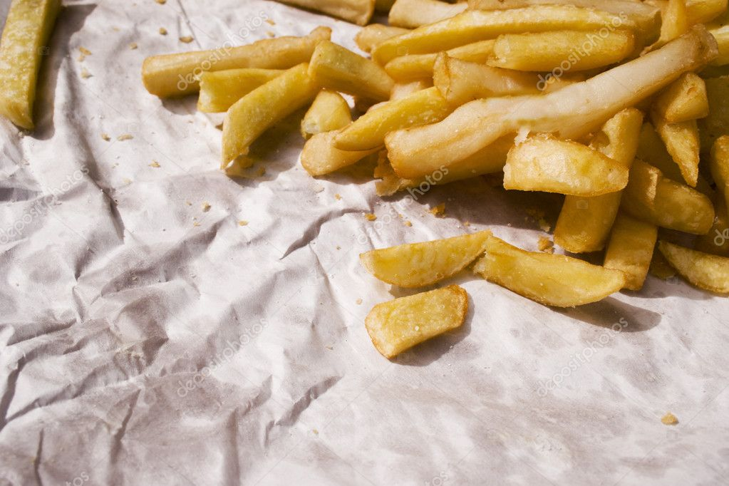 A feed of chips on newsprint - the national dish of Aotearoa  Stock Photo #3748078