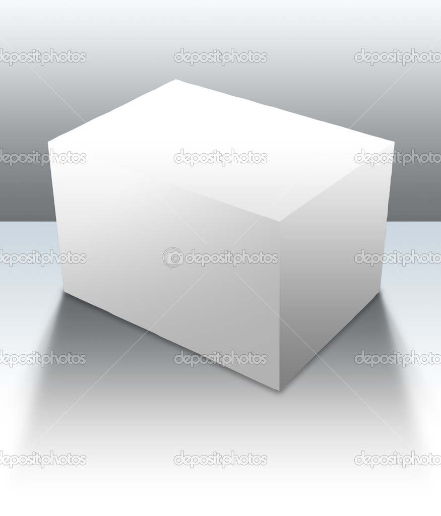 A blank box ready for your product - clipping paths and guides included for easy isolation of shapes and surfaces — Lizenzfreies Foto #3748130