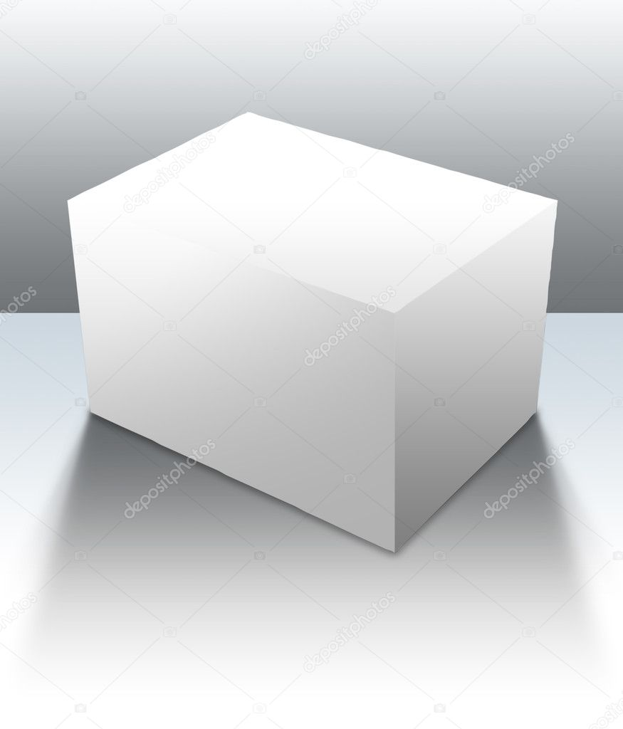 A blank box ready for your product - clipping paths and guides included for easy isolation of shapes and surfaces — Stock fotografie #3748130