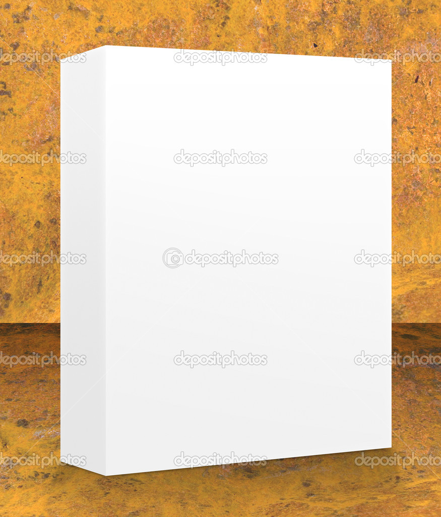 A blank box ready for your product - clipping paths and guides included for easy isolation of shapes and surfaces — Stock Photo #3748142