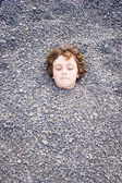 Head in the ground 02 — Stock Photo