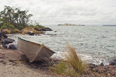 Dinghy on Rangitoto Island — Stock Photo