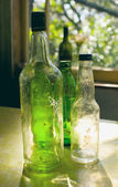 Old glass bottles — Stock Photo