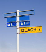 No exit from the beach — Stock Photo