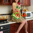 The girl at kitchen — Stock Photo #3192970