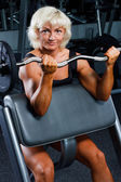 Woman in a health club — Stock Photo