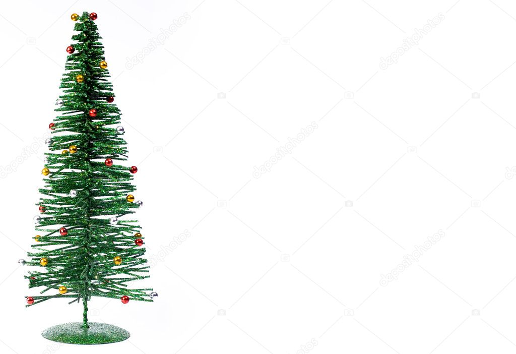 A christmas tree isolated against a white background. — Stock Photo #2744214