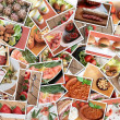 Italiaans eten collage — Stockfoto