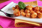 Tomato sauce gnocchi — Stock Photo