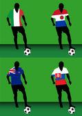Hráči fotbalu - groupf — Stock vektor