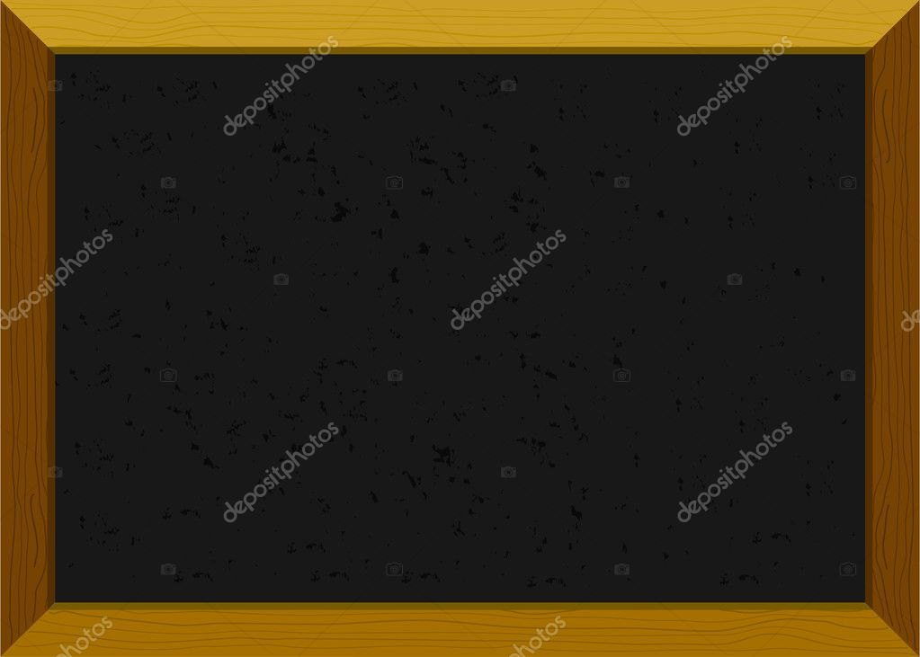 Empty old-fashioned chalkboard with a wooden frame  Stock Vector #3092852