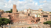 Trajan's Market and Fori Imperiali — Stock Photo