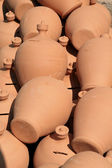 Stall of raw pottery — Stock Photo
