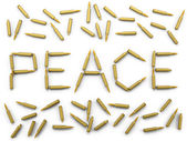Peace of the bullets — Stock Photo