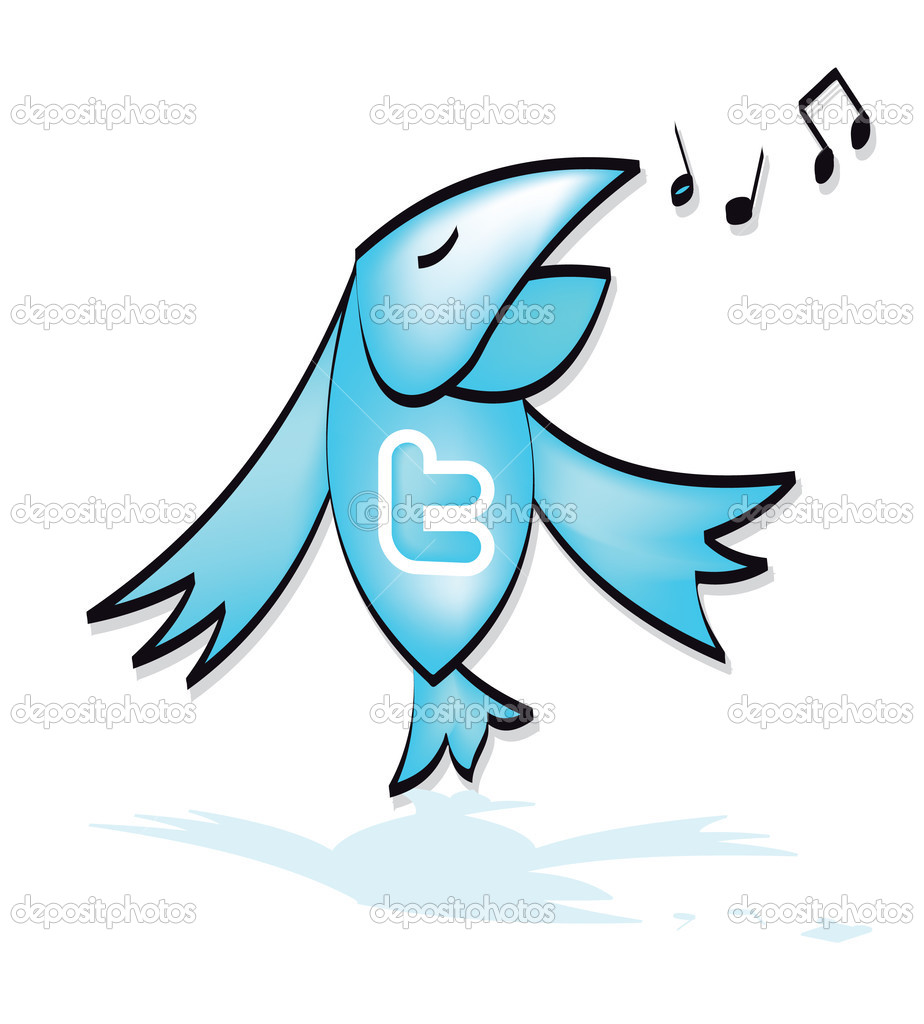 Twitter an icon bird  illustration vector blog  Stock Vector #3634840