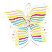 The butterfly — Stock Vector