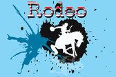 A cowboy riding a wild horse — Stock Photo