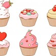 Various cupcake - Stock Vector
