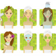 SPA, health and beauty set — Imagen vectorial