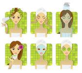 Set de spa, salud y belleza — Vector de stock