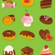 Confectioner icon sweet vector set — Stock Vector