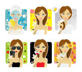 Beauty woman — Vector de stock