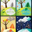 Four seasons vector — Stock Vector