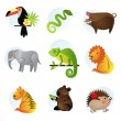 Different bright animals — Vector de stock #2912899