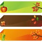 höstens vektor banners — Stockvektor