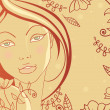 Vector de stock : Beauty woman