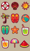 Vacation and travel vector set. — Stok Vektör