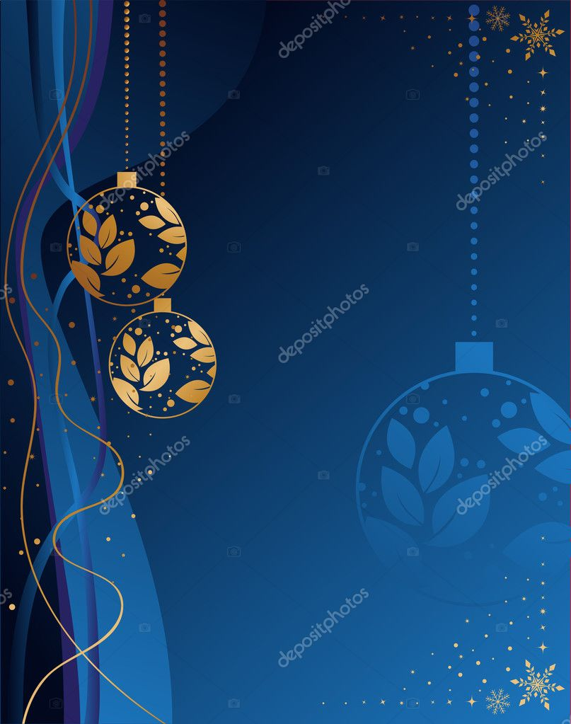 Blue christmas background with place for your text — Stock Vector #2912929