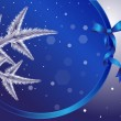 Decorative Christmas background — Image vectorielle