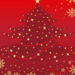 New year and Christmas red banner — Image vectorielle